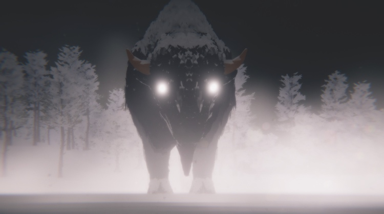 Casey Koyczan's VR bison. Courtesy of the artist.