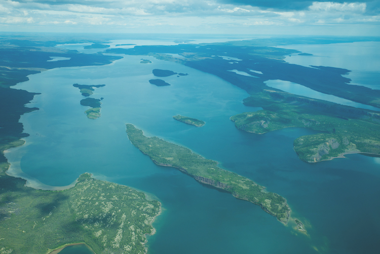 An aerial shot of Great Slave Lake. Photo by Pat Kane