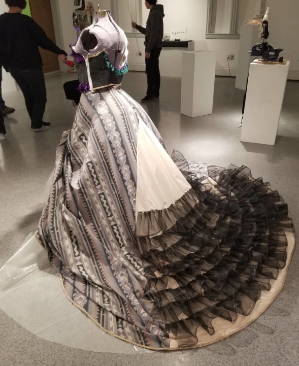 Victorian-era dress made from garbage