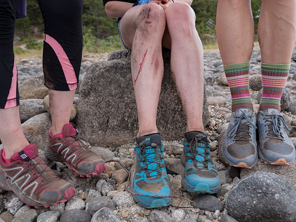 Sweat and dirt earned on the trail can be washed away in the glacial waters of Bennett Lake.