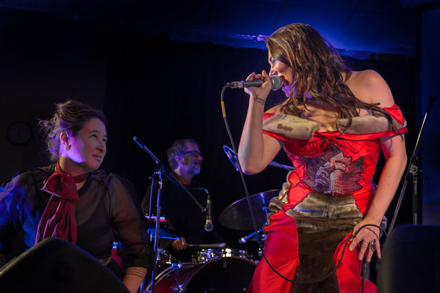 Tanya Tagaq wows Iqaluit at her first Nunavut show in years, with Laakkuluk Williamson Bathory. Photo by Ivo Vigouroux