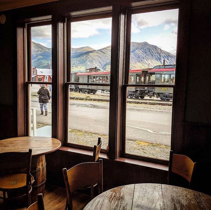 Looking out at Carcross from inside the Surly Bird. MARK RUTLEDGE