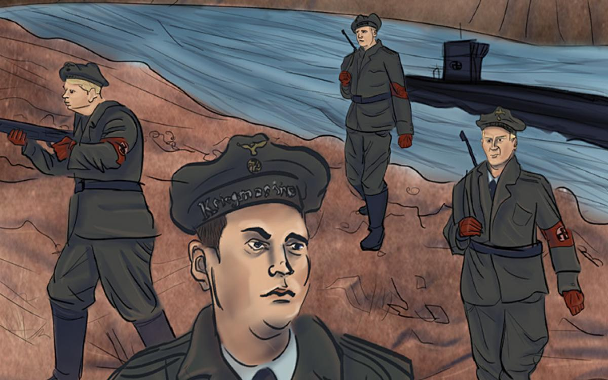 LEBENSRAUM: The first-ever Nazi landing in North America took place after a U-boat surfaced off Labrador's Arctic coast near the end of the Second World War. The Germans set up a secret weather station that went undetected for 30 years. Artwork by Greg Hill