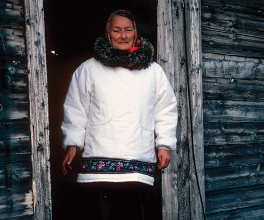 Photo of Tuinnaq Bruce, the author's grandmother, by David Pelly