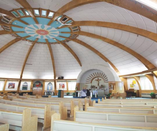 Inside Inuvik church