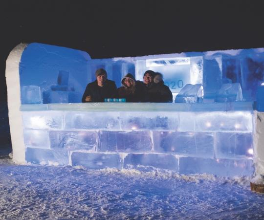 Ice bar in Inuvik