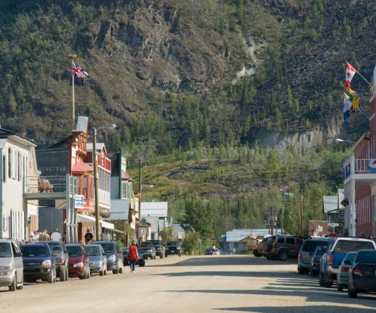 Downtown Dawson City.