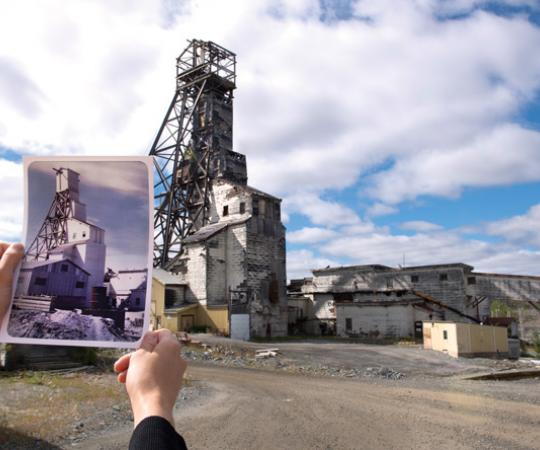 At Yellowknife's Giant Mine, little remains of a once-bustling frontier community. Photo Angela Gzowski