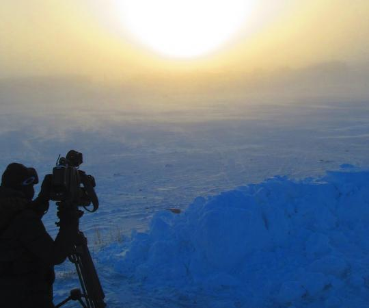 Charlotte Morritt-Jacobs captures the sunset in Rankin Inlet.