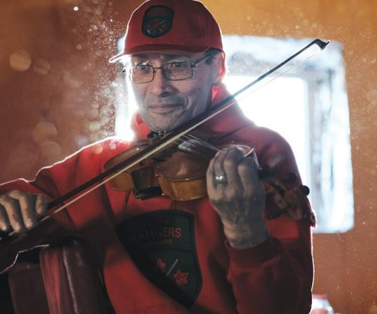 ENCORE: Allan Benjamin is a cartoonist, competitive racer, Canadian Ranger and fiddler.