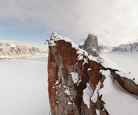 Base Jumping off Mount Asgard, Baffin Island
